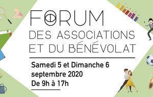 RDV AU FORUM DES ASSOCIATIONS !